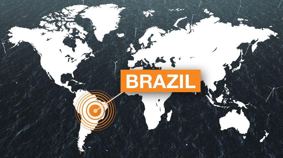 BRAZIL world map