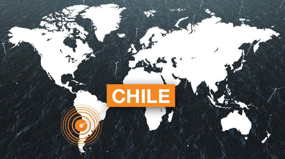 CHILE world map