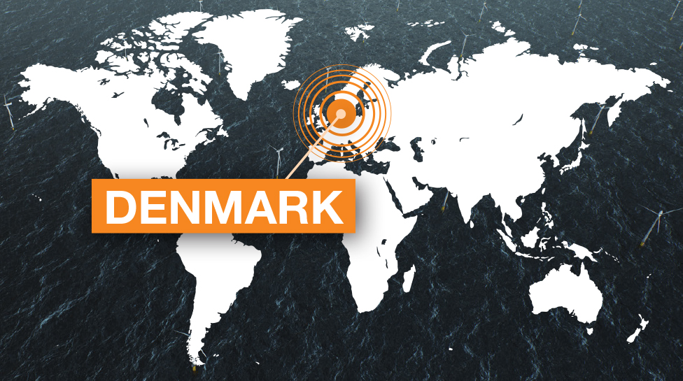 DENMARK world map