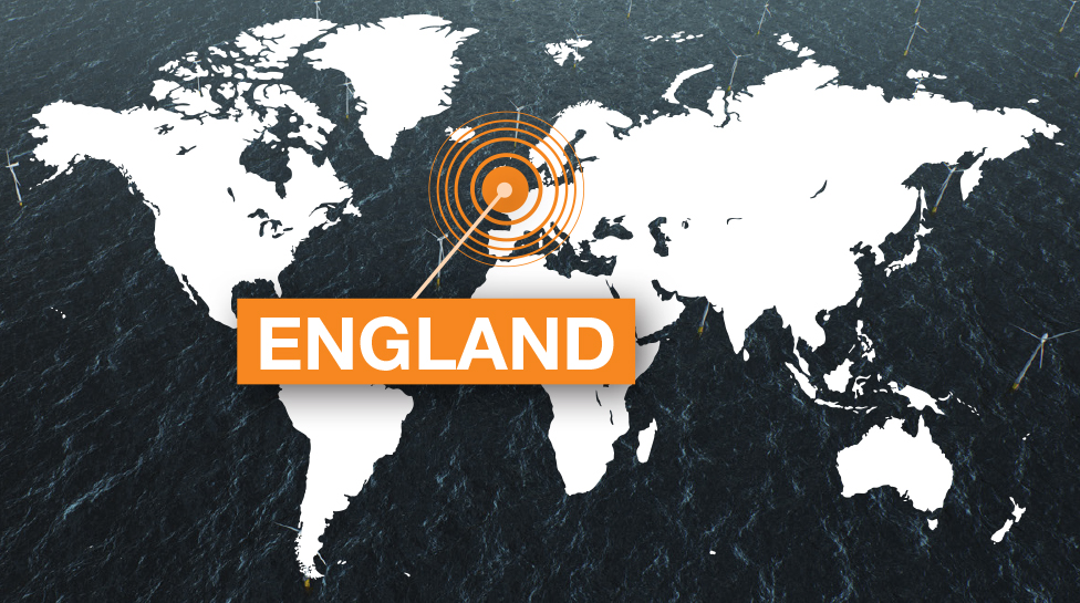 ENGLAND world map