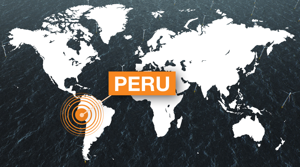 PERU world map